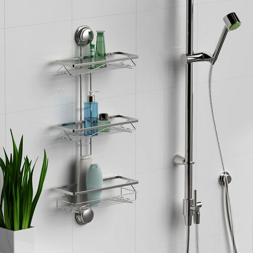 bathroom suction shelf 700023 using