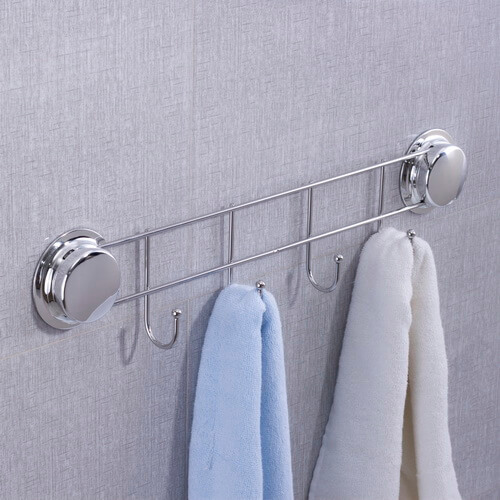 chrome bathroom suction hooks 268032 using