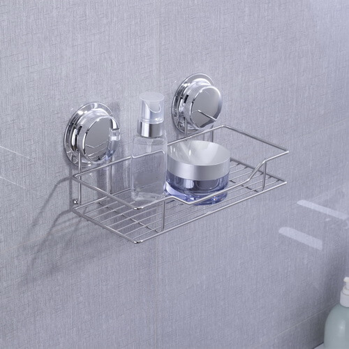 chrome suction cup shelf 268021 using