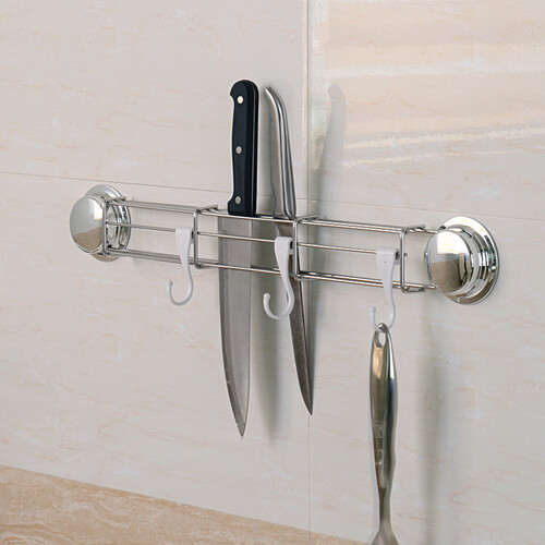 chrome suction knife rack 268135 using