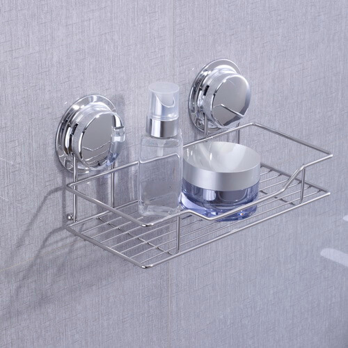 chrome suction shower shelf 268022 using