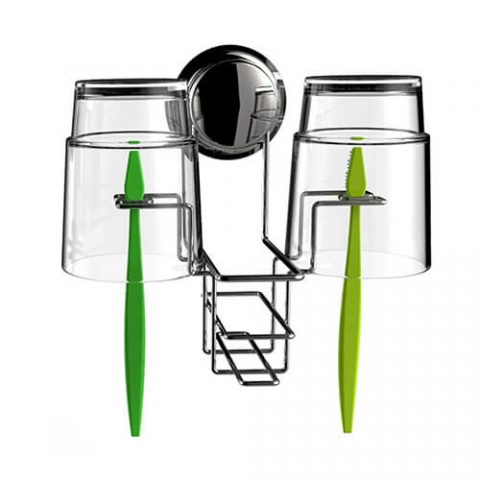 chrome suction toothbrush holder 700001