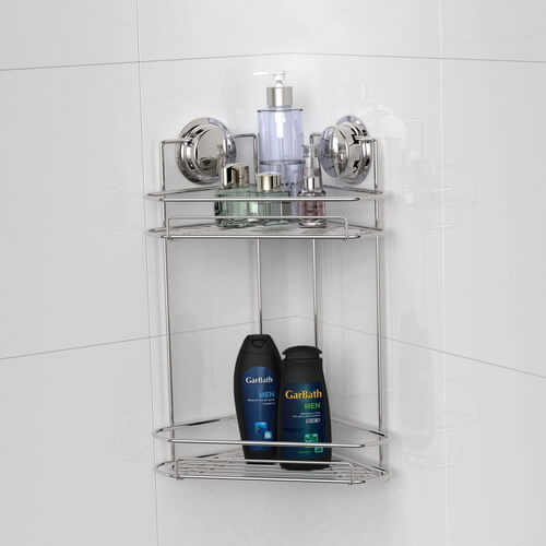 corner shower shelf with suction cups 700006 using
