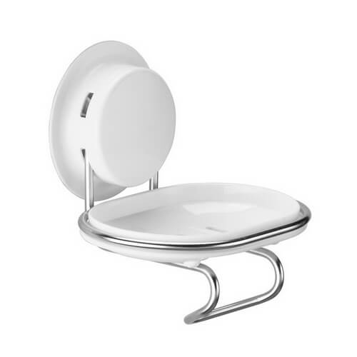 Soap Dish Shower Suction Cup With A Hook For Shaver   Garbath
