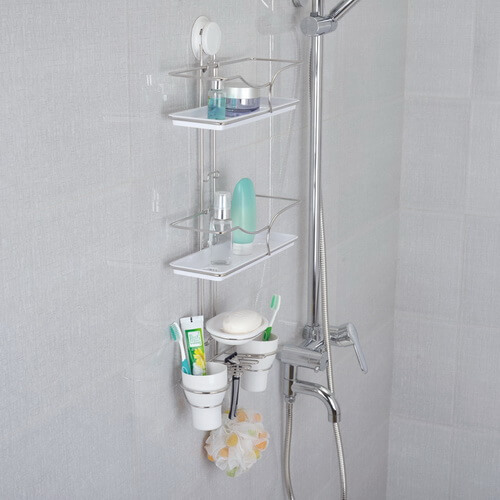 suction bathroom ladder shelf 260017 using