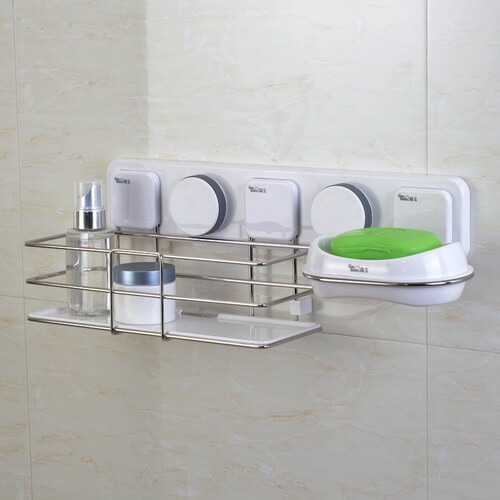 suction bathroom wall organizer 263006 using