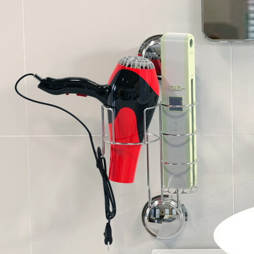 suction hair dryer and straightener holder 260140 using