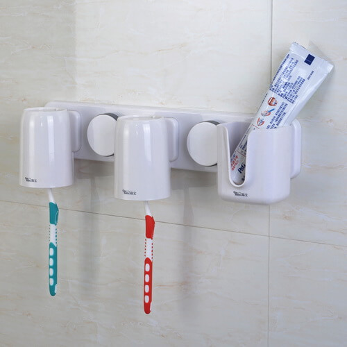 suction toothbrush and toothpaste holder 263001 using