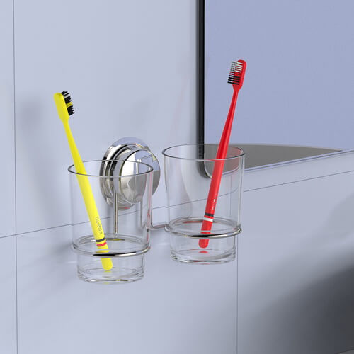 suction toothbrush cup holder 700017 using